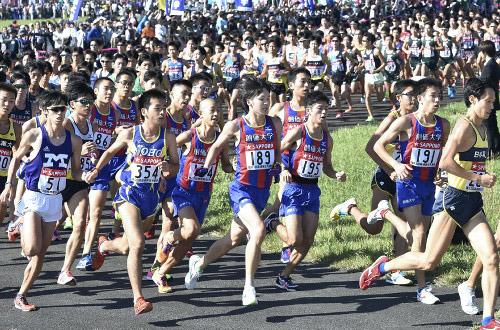 2017箱根駅伝予選会での創価大学